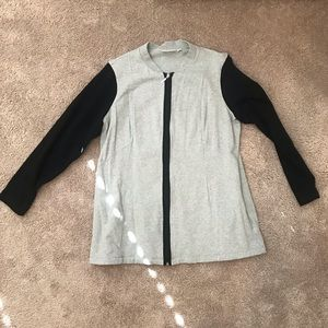 Denim & Company zip up sweatshirt